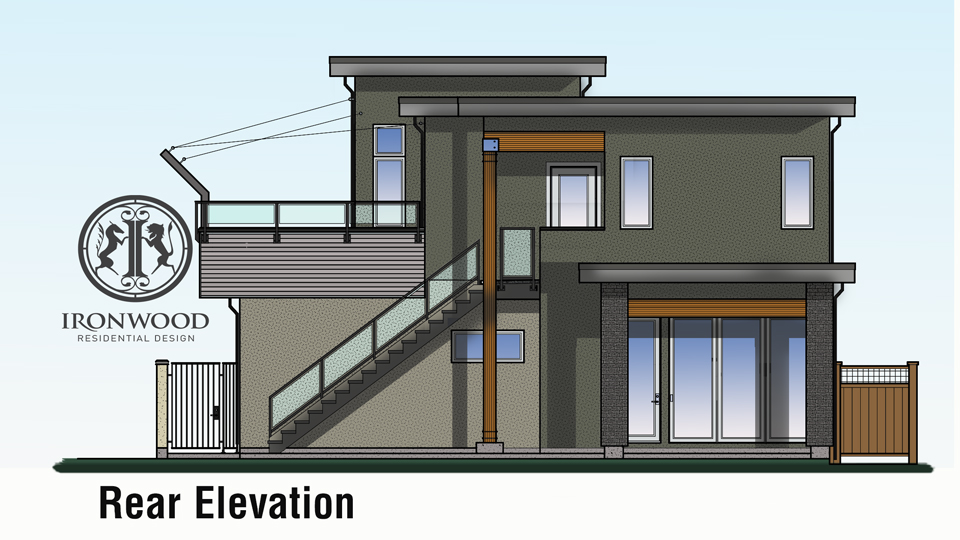 Home plans with roof deck for Modern house design with roof deck