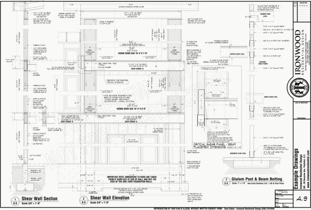 Ironwood-Example-Plans-SHEAR-WALL-DETAILS-A9
